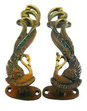 Peacock Peafowl Bird Vintage Antique Style Handmade Brass Door Handle Knob Pull
