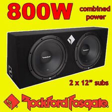 "Rockford FOSGATE TWIN 12"" pollici 800 W CAR AUDIO SUBWOOFER DRIVER Subwoofer Bass Box"