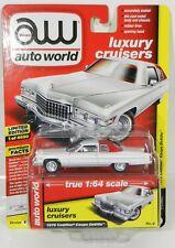2018 AUTO WORLD 1:64 *PREMIUM 4B* COTILLION WHITE 1976 Cadillac Coupe DeVille