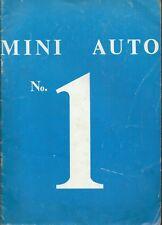 Mini Auto n°1 - John Day Rivista circa 1974 -  Automobiline Day Pocher Solido