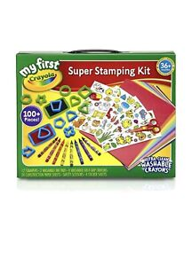 Stamping Set Art Washable Crayons Colored Pencils Scissor Paper Sticker Gift New