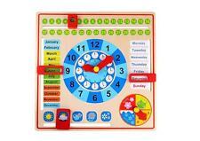 Tooky Toys Enfants Calendrier Avent & Saison Horloge Jouet en Bois Set de Jeux