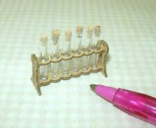 Miniature LARGE German Test Tube Rack, 6 Test Tubes (Style #1): DOLLHOUSE 1/12