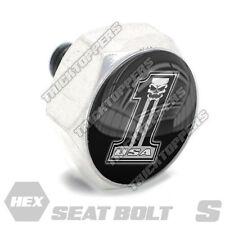 Polished Hex Billet Aluminum Seat To Fender Bolt for Harley USA # NUMBER 1 SKULL