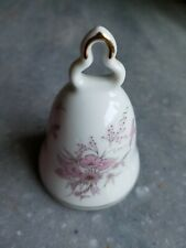 Vintage Collectible Bell Kronach W Germany Porcelain Pink Flower