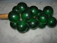 Vintage Green Grapes Lucite Glass Mid Century