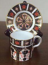 Royal Crown Derby OLD IMARI Flat Demitasse Cup & Saucer Set ~ England