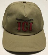 Industrial Contractors Hat ICI North Dakota Cap Made In The USA Mechanical ND