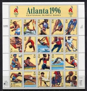 36344) USA 1996 MNH Olympic Games 20v M/S