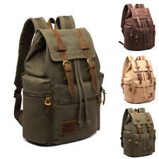 Vintage Canvas Outdoor Travel Hiking Rucksack School Bags Satchel Backpack