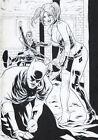 Carlos Rafael JOKER, HARLEY QUINN AND BATMAN Pinup Drawing Original Art