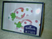 8 Hallmark Note Cards With Envelopes Pink Flip Flop Blank New in Package