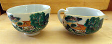 2 VINTAGE CHINESE RESTAURANT SAUCE SERVING BOWLS COLORFUL  DECOR LOOK
