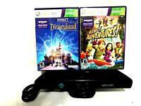 XBox 360 Kinect Sensor Bar 1414 Bundle With 2 Games Disneyland/Kinect Adventures
