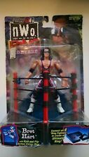 Toybiz Nwo Ring Fighters Bret Hart with Kick & Flip Action Corner Ring