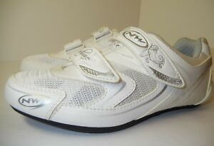 New Northwave Eclipse Pro Women's Road Bike Cycling Shoes Size 37 5.5 White