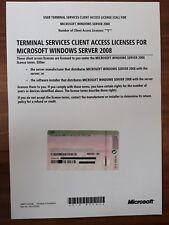 Windows Server 2008 RDS 5 CAL Remote Terminal Service User Benutzer Nutzer 5Cals