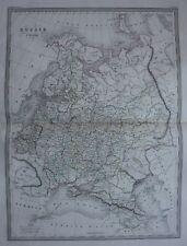 Large original antique map RUSSIA IN EUROPE, 'Russie d'Europe', Malte-Brun, 1846