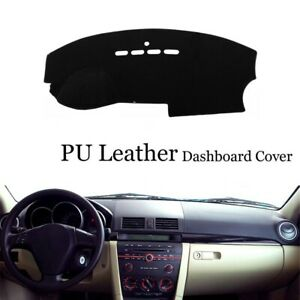 Dashboard Console Cover PU Leather Protector Sunshield Pad Fit For Mazda3 M3 BK
