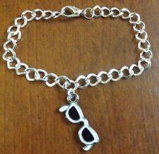 bracelet argenté 20,5 cm lunette de soleil  27x12 mm
