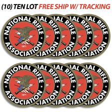 """(10) NRA National Rifle Association Gun 2nd Amendment Vinyl Stickers Decal 3""""x3"""""""