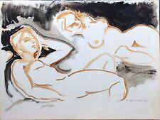 Médard II TYTGAT (1916-1997) lavis personnages nu féminin p1204