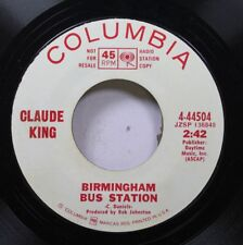 Country Promo 45 Claude King - Birmingham Bus Station / Parchment Farm Blues On