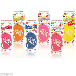 Jelly Belly CARD Car Air Fresheners Jelly Belly Cherry Blueberry Bubblegum etc