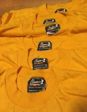 Lot 6 Vintage 80s SKIMMERS 50/50% Cotton/ Poly Yellow Color Thin T Shirt. Size M