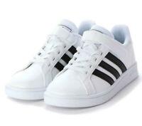 Scarpe Adidas Grand Court Bambini Sneakers Bianche con Strappo Ecopelle Estiva