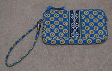Vera Bradley Blue Yellow Riviera Blue Zip Wristlet Wallet