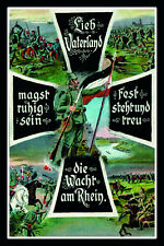 Lieb Vaterland ... Deutsches Kaiserreich Blechschild Schild Tin Sign 20 x 30 cm