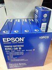 10 Genuine Epson ERC-38B Black Printer Ribbon Cartridges