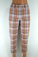 Tommy Hilfiger BNWT Multicolor  Plaid Skinny Women Cropped Trousers Size 4 EU S