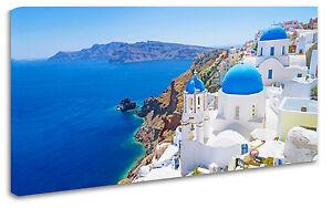 Quadro Moderno Arredamento Santorini Isola Greca Arredo Casa Arte Stampa su Tela
