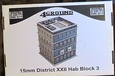4Ground 15S-JUZ-103 15mm Sci-Fi Jesserai District XXII Hab Block #3 Terrain NIB