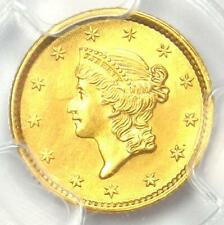 1852 Liberty Gold Dollar Coin G$1 - PCGS Uncirculated Detail - Rare MS UNC Coin!