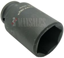 """1/2"""" DR DEEP IMPACT SPINDLE AXLE NUT SOCKET 6-POINT CR-MO (CHOOSE YOUR SIZE)"""
