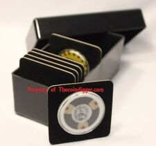 1 Storage Box for Coin Display Card Holder BLACK Case Air-tite Acrylic Holds 20