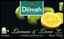 Dilmah Tee-Lemon & Lime flavoured black Ceylon Tea 20 bustina del tè
