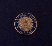 "U.S. Coast Guard Retired Lapel Pin 5/8"" round Uscg United States crossed anchors"