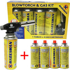 BLOW TORCH BUTANE GAS KIT FLAMETHROWER WELDING AUTO IGNITION 8 BOTTLES SOLDERING