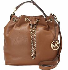 NWT Michael Kors Frankie Large Leather Convertible Drawstring Shoulder Bag $328