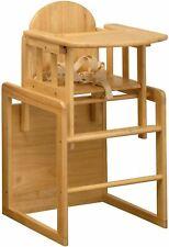 East Coast 3 en 1 Combinaison en bois chaise haute play table + Harnais de sécur...