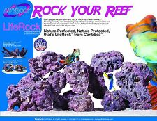 Caribsea Life Rock 9kg 20 LBS Box Real Reef Aquarium Purple Live Rock Fish Tank