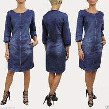 Knielange Damenkleider im Tuniken-Stil aus Baumwolle für die Freizeit