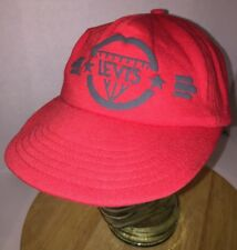 Vintage LEVI'S 80s USA Red Hat Cap Snapback Made Humphreys Chicago IL DIAMOND