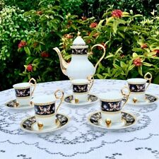 Chekoslovakian Design Tea Set with Heavy Gold Accent