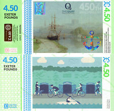 ENGLAND 4 Pounds 50 Pence Fun-Fantasy Note 2016 Local Currency - Exeter Canal