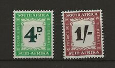 South Africa 1958 postage Dues sg D42 and D44 MH
